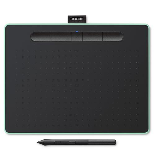 Wacom Intuos M Bluetooth Graphics Tablet in Pistachio