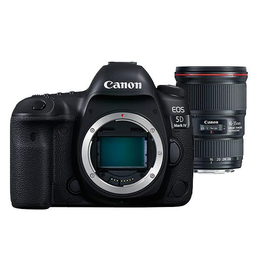 Canon EOS 5D Mark IV Digital SLR Body with EF 16-35mm f/4L IS USM Lens