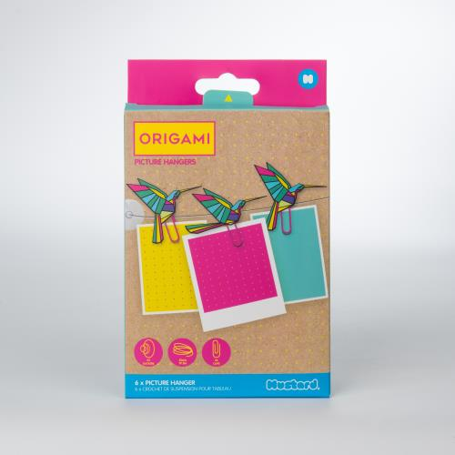 Mustard Origami Picture Hanger